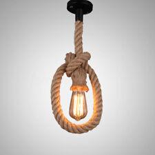 E27 Lámpara Colgante Industrial Única Cabeza Retro Retro Edison Cuerda Luz de Te