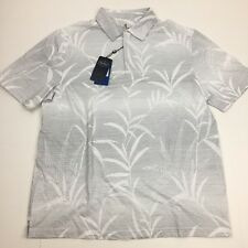 NEW Nat Nast Men's Polo Shirt Short Sleeve White Gray Large