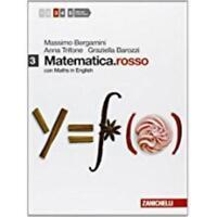 Matematica.rosso 3 con Maths in English, ZANICHELLI Bergamini, cod.9788808331823
