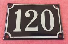 VINTAGE FRENCH ENAMEL HOUSE NUMBER 120 DOOR METAL SIGN