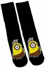 LADIES / MENS GENTS MINIONS BLACK STUART CAVEMAN SOCKS UK SIZE 6-8