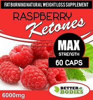 60 Raspberry Ketone 6000mg Super Extreme Strength Weight Loss Diet slimming