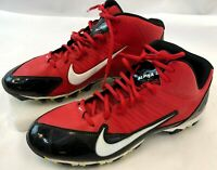2014 Nike Red & Black Mens Alpha Shark Sport Size 11 Football Cleats 642770-016