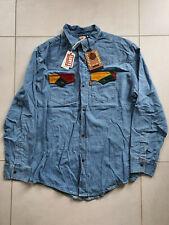 NWT LVC Levi's Vintage Clothing 70's Denim Shirt Corduroy Orange Tab L