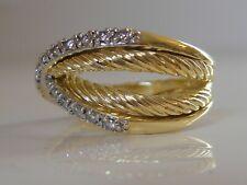 $5450 DAVID YURMAN 18K SOLID GOLD CROSSOVER DIAMOND RING