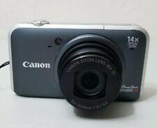 Canon PowerShot SX220 HS 12.1MP Digital Camera - Gray *VERY GOOD*