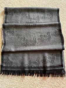 Vivienne Westwood Grey wool Scarf ~ Made In Italy