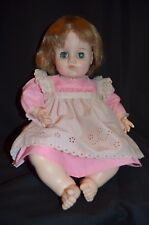 Madame Alexander Vintage 1973 Baby Girl Doll in Pink Dress 19""