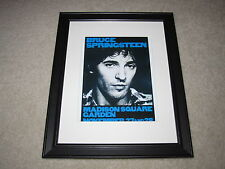 "Framed Bruce Springsteen Concert Mini Poster, 1980 River Tour 14""x16.5"" Rare!"