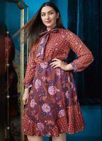 MODCLOTH  X ANNA SUI Unforgettable Dress A Line Flare Multi Women's Size 8 $175