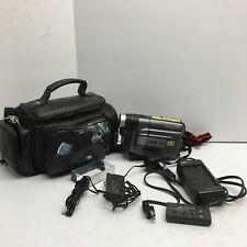 JVC GR-AXM310U VHS-C Analog Camcorder, Case, Battery, Charger
