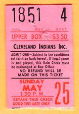 SCARCE! 1969 SEATTLE PILOTS TICKET STUB @ CLEV INDIANS-5/25/69