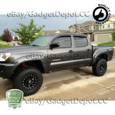 For 2005-2015 Toyota Tacoma Double Cab Window Visor Vent Rain Guard Deflector