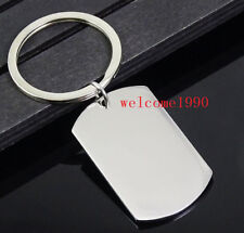 Lot in bulk Stainless Steel Keychain with Army card Dog Tag Key Ring choose size