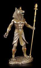 EGIPCIA Guerrero Figura - Anubis - Bronceada EGIPTO totengott Estatua Decorativa