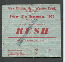 1979 Rush Wild Horses concert ticket stub Stafford Uk Permanent Waves Tour