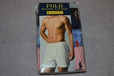 Polo Ralph Lauren Classic Fit 3 Cotton Woven Boxers Men's Size: Large NIB!