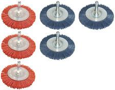 6x Nylonbürste Schleifbürste Ø75mm (3x rot grob+ 3x blau fein) für Bohrmaschine