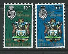 Antigua SG206/7 1967 300th ANNIV del trattato MTD Nuovo di zecca