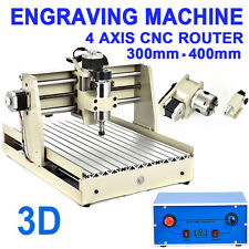 4axis CNC 3040 Router engraver cnc engraving wood mill drill machine mach3 400W