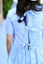 Zara Blue & White Stripe Tie Back Poplin Blouse Size MEDIUM BNWT