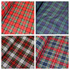 100% Brushed Cotton Fabric Tartan Wincyette Flannel Material 150cm wide
