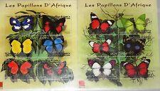 GUINEA 2001 Klb 3264-75 1976-77 Butterflies Schmetterlinge Insects Insekten MNH
