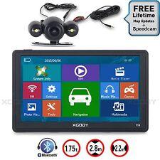 """XGODY 7"""" 8GB SAT NAV Bluetooth Car GPS Navigation+Reversing View Camera AV-IN FM"""