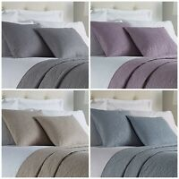 "Quality Quilted Leaf Embossed Hotel Bed Cushion Square 18"" x 18"" Scatter Decor"