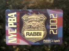 Obsolete NYPD PBA Card 2002 RABBI NYC PBA