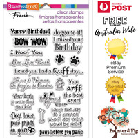 Stampendous Dog Sayings Stamps - Dogs, Puppy, Puppies, Belated Birthday, Paws