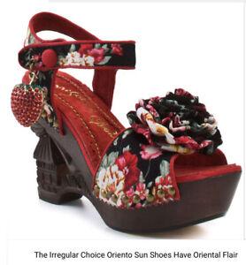 Irregular Choice Oriento Sun Shoes Size 38.5