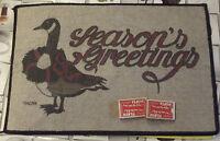 Ancien tapis de jeu publicitaire Oie,SEASON'S GREETINGS Rétro + 2 jeux de cartes