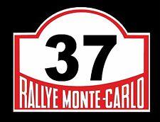 Autocollant vinyle extérieur classique nostalgiques Monte Carlo Rallye Vintage Mini numéro 37