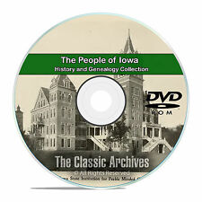 Iowa IA People Cities and Towns History and Genealogy 148 Books DVD CD B38