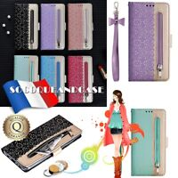 Etui Housse Coque Leather LACE FLOWER Style Case Cover Samsung Galaxy ALL MODELS