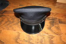 Midway Military Style police Hat NEW 5 Star Cap Navy Blue and Black Size 7 5/8