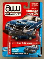 AUTO WORLD 1976 PONTIAC FIREBIRD TRANS AM VINTAGE  MUSCLE RUBBER TIRES (DAMAGED)