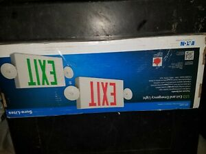LPX Red/Green LED Exit and Emergency Combo Light Cooper Eaton LPXC25R3SD