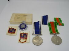 More details for police exemplary service medal group & badges - inspector glamorgan constabulary