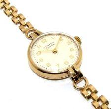 Ladies 9ct 9Carat Yellow Gold Vertex Revue Mechanical Hand Winding Wrist Watch
