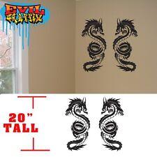 Martial Arts dragon decals,wall decals martial arts stickers, dragon stickers