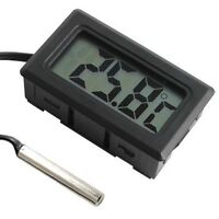 Digital LCD Thermometer Hygrometer Temperature Humidity Meter Monitor With Probe