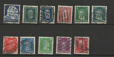 Allemagne années 20 Deutsches Reich 11 timbres oblitérés / T2508