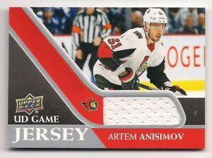 Artem Anisimov 20-21 Upper Deck 1 UD Game Jersey Game Used Jersey
