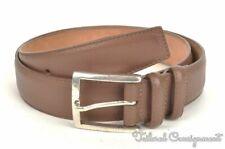 W. KLEINBERG Solid Brown Mens Luxury Grain Leather Dress Belt USA - 36