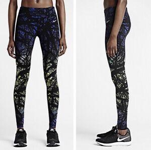 Nike Womens Printed Engineered Enchanted Forest Running Lux Leggings Sz Medium