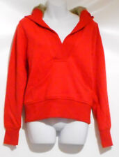 Old Navy Ladies Crossover Vee Fur Lined Hood Pullover Hoodie Red Medium (M) NWT