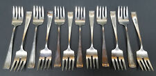 Vintage RW&S WALLACE Silversmiths 925 Sterling Silver Luncheon Fork Set of (12)