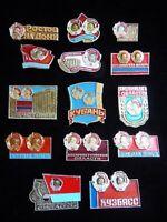 Set of 14 USSR Soviet Russian Badge  Order Lenin City Region